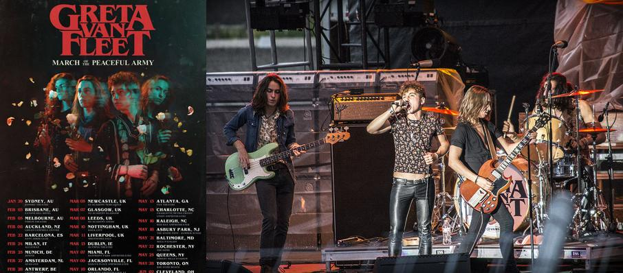 Greta Van Fleet at Charlotte Metro Credit Union Amphitheatre