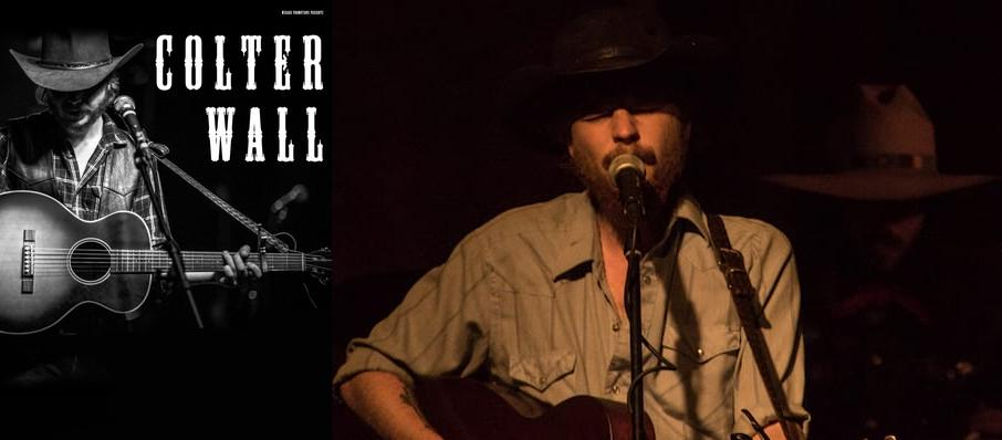 Colter Wall at Neighborhood Theatre