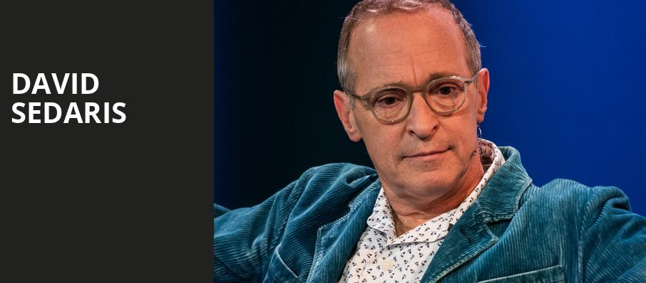 David Sedaris, Ovens Auditorium, Charlotte