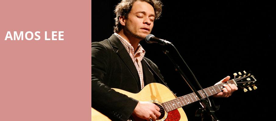 Amos Lee, Knight Theatre, Charlotte